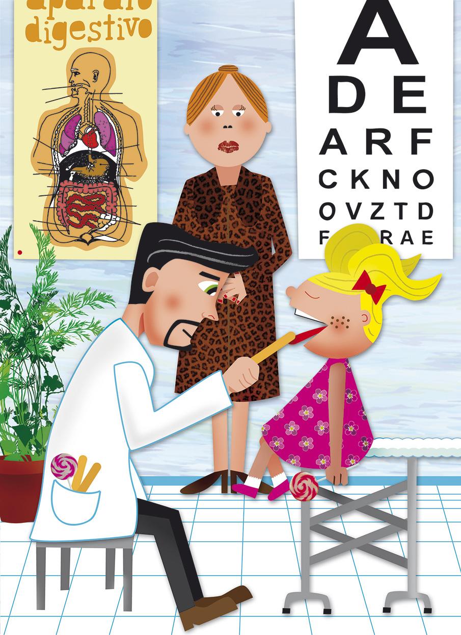 Visitando al doctor